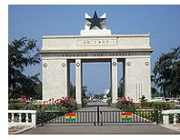Independence Arch in Ghana
